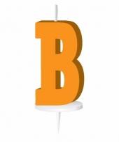 Letter kaarsen oranje b