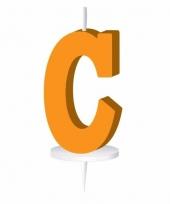 Letter kaarsen oranje c