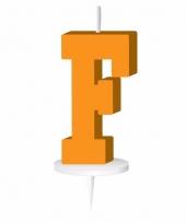 Letter kaarsen oranje f