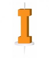 Letter kaarsen oranje i
