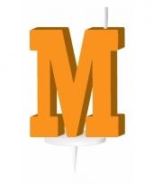 Letter kaarsen oranje m