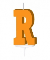 Letter kaarsen oranje r