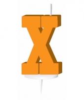 Letter kaarsen oranje x