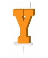 Letter kaarsen oranje y