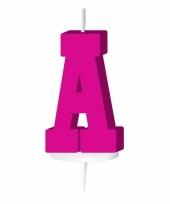 Letter kaarsen roze a