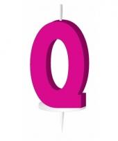 Letter kaarsen roze q