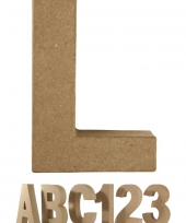 Letter l van papier mache voor decoratie