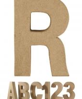 Letter r van papier mache voor decoratie