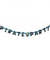 Letterslinger piraten blauw