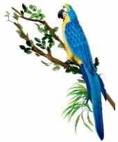 Levensechte papegaaien knuffel blauw