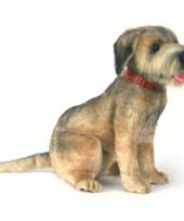 Levensechte pluche borderterrier hond 44 cm