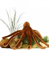 Levensechte pluche octopus knuffel bruin