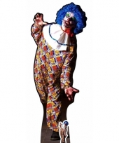 Levensgrote horror clown deco bord