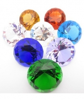 Licht blauw gekleurde diamant 4 cm per stuk