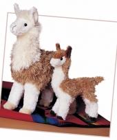 Licht bruine alpaca knuffel 18 cm