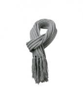 Licht grijze sjaal extra lang voor volwassenen 2 m