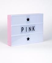 Lichtbak quote maken a4 roze