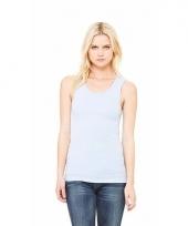 Lichtblauw dames shirt zonder mouwen