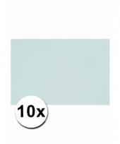 Lichtblauw knutsel karton a4 10 stuks