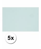 Lichtblauw knutsel karton a4 5 stuks