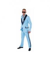 Lichtblauw maffia pak voor heren
