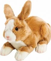 Lichtbruin knuffel konijntje haasje 35 cm