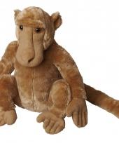 Lichtbruine baviaan knuffel 30 cm