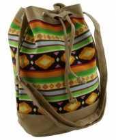 Lichtbruine dames tassen ibiza stijl 30 cm