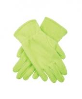 Lichtgroene fleece handschoenen voor kinderen