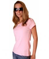 Lichtroze bella shirt voor dames
