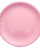 Lichtroze kartonnen borden 29 cm