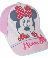Lichtroze kinderpet van minnie mouse