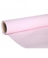 Lichtroze kleur luxe tafelkleed loper