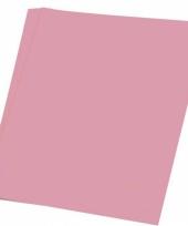 Lichtroze knutsel papier 50 vellen a4