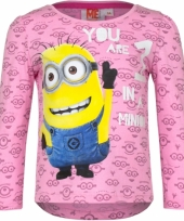 Lichtroze minion kinder shirt