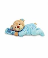 Liggende blauwe beer 15 cm