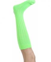 Lime groene kniesokken maat 41 47