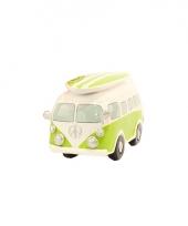 Lime groene volkswagen t1 bus spaarpot