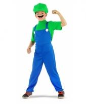 Loodgieter luigi verkleed pak groen voor jongens