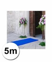 Loper in de kleur blauwe 1 bij 5 meter
