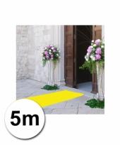 Loper in de kleur gele 1 bij 5 meter