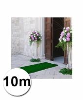 Loper in de kleur groene 1 bij 10 meter