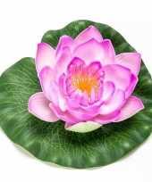 Lotus waterlelie kunstbloem lila paars 16 cm