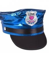 Love police petje blauw voor volwassenen