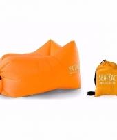 Lucht stoel lucht zitzak oranje