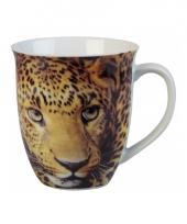 Luipaard thee beker