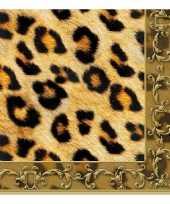 Lunchservetten luipaard print 3 laags 20 stuks