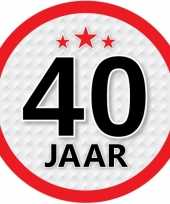 Luxe 40 jaar stickers