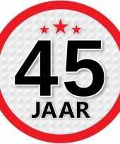 Luxe 45 jaar stickers