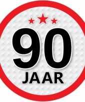 Luxe 90 jaar stickers
